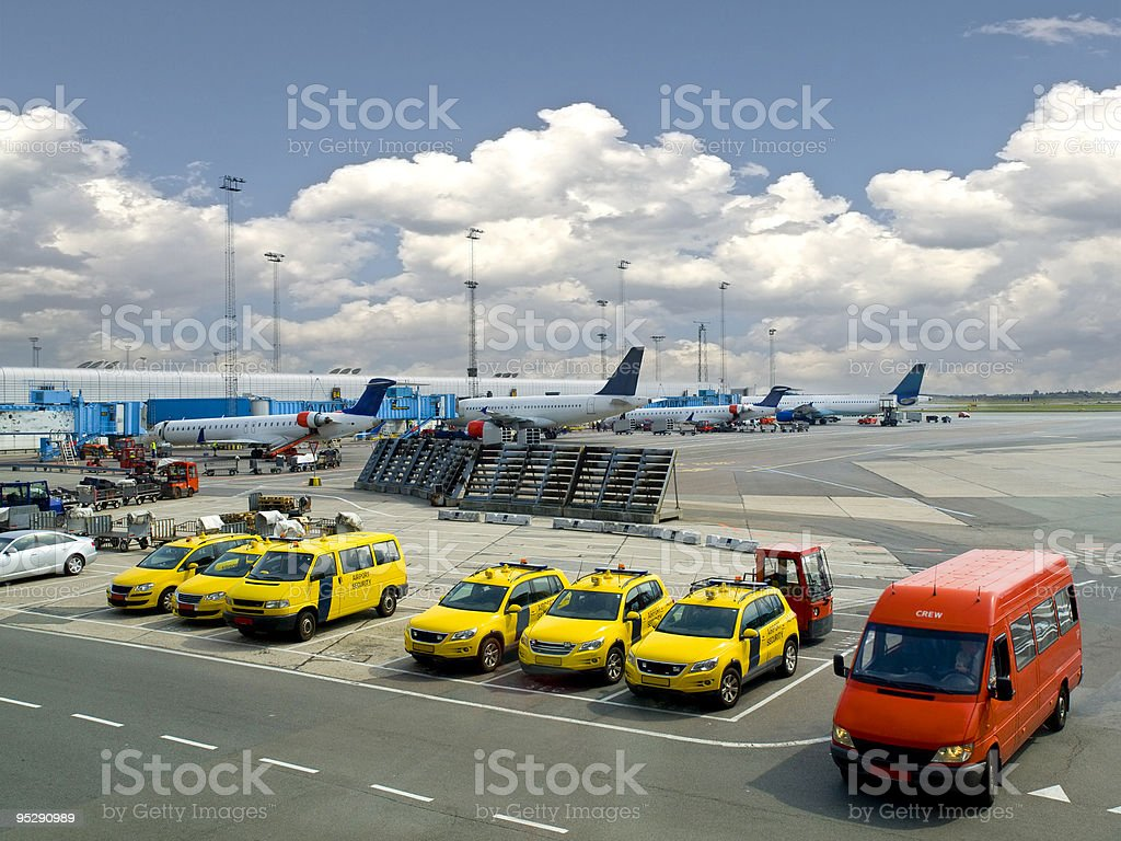 Airport Security Fleet stock photo