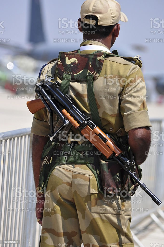 Airport Security Guard royalty-free stock photo
