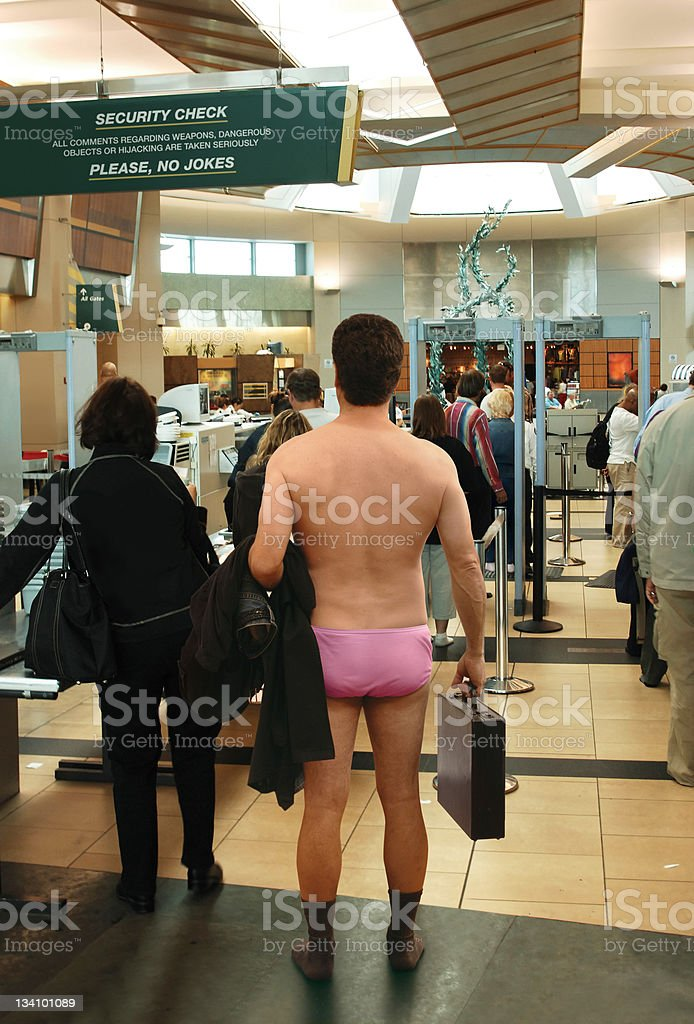Airport Security Inspection stock photo