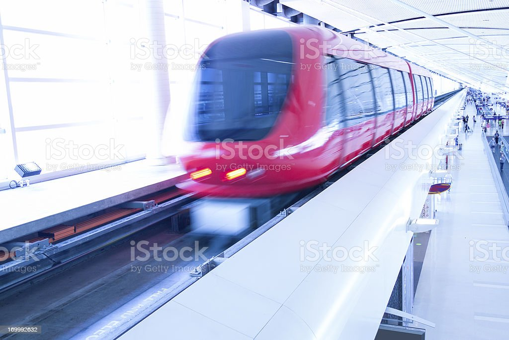 airport shuttle service rushing royalty-free stock photo