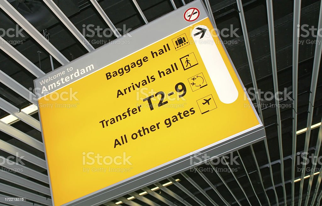 Airport sign # 4 royalty-free stock photo