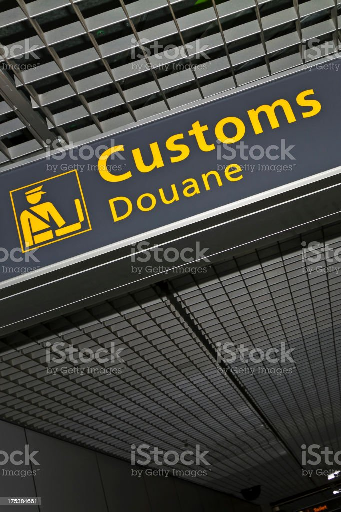 Airport sign # 63 stock photo