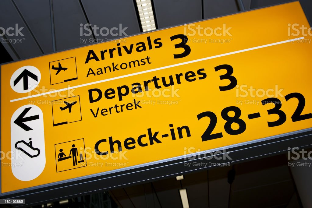 Airport sign # 44 royalty-free stock photo