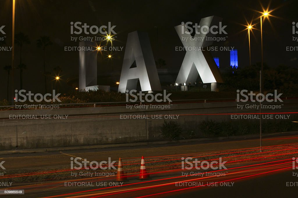 LAX Airport Sign stock photo