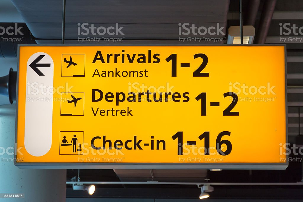 Airport Sign - Royalty-free 2015 Stockfoto