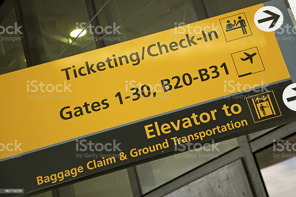 Airport sign # 52 XXL royalty-free stock photo