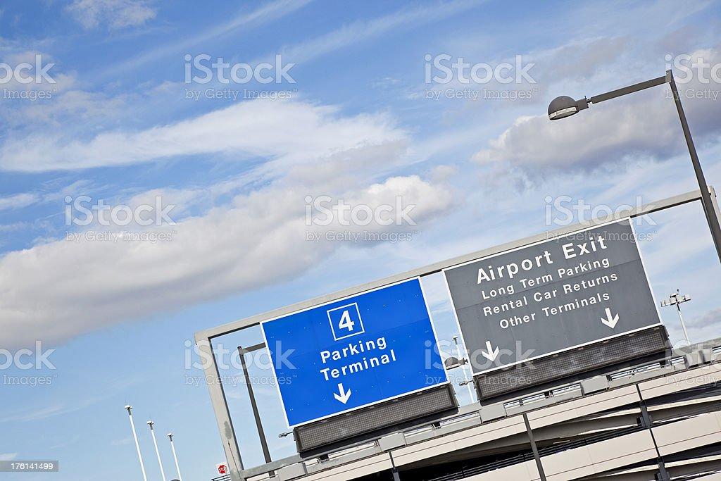 Airport sign # 39 XXXL stock photo