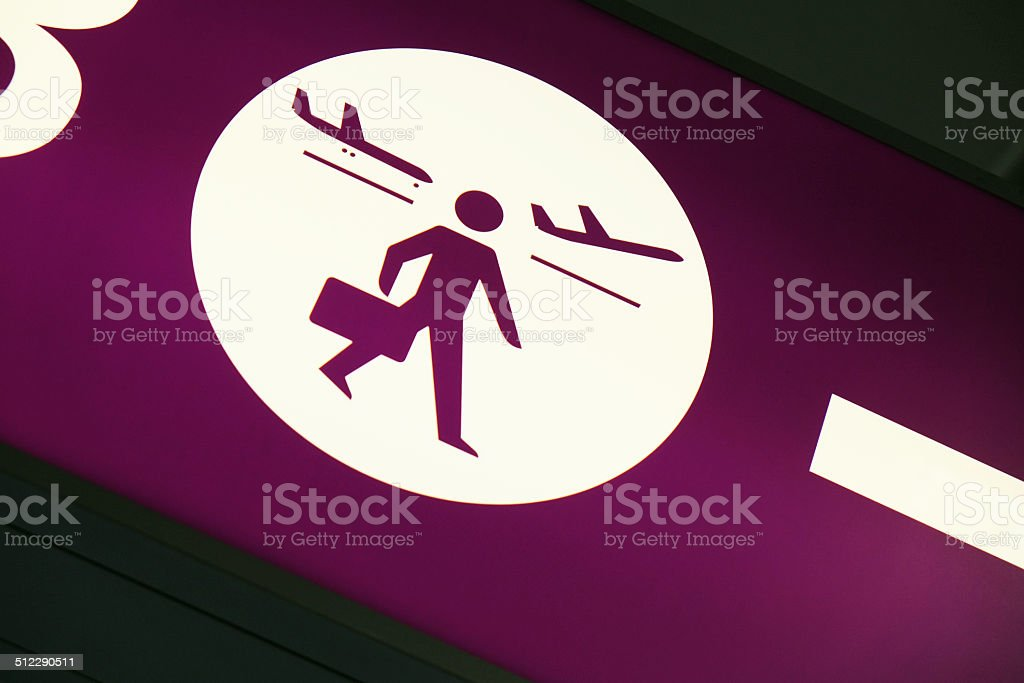 Airport Signs: Direction stock photo