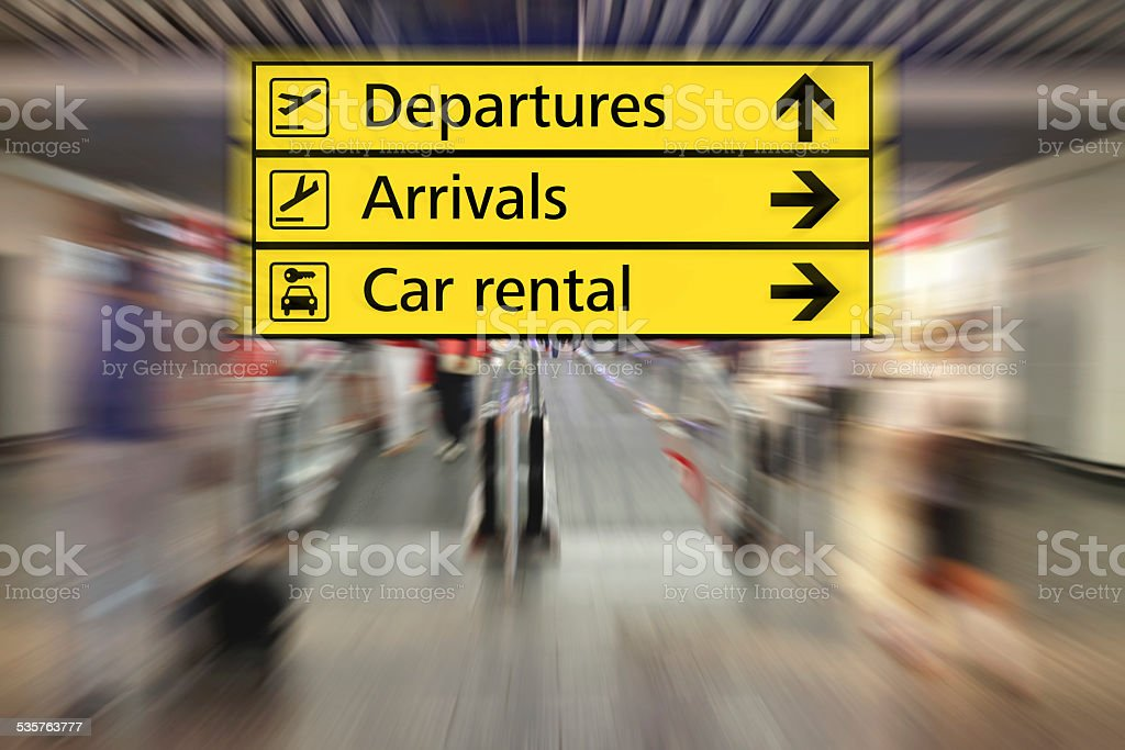 Airport Signs stock photo