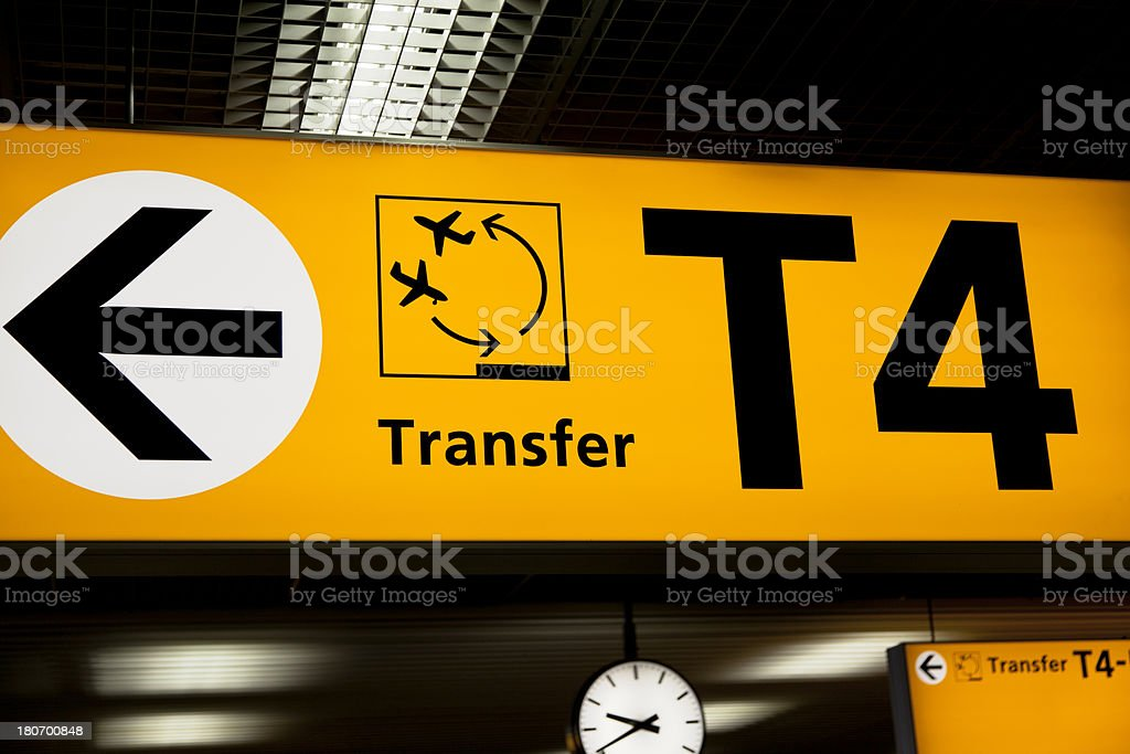 Airport Signs: Transfer stock photo