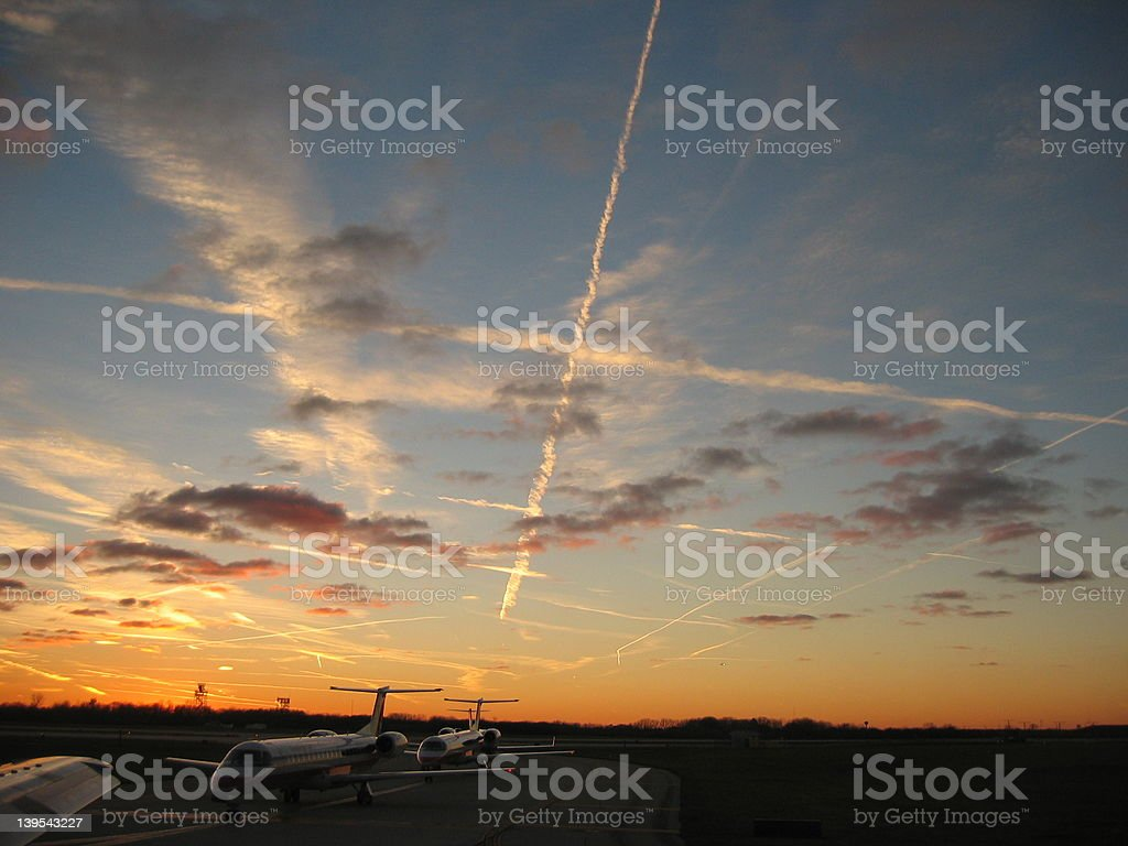 Airport Sky royalty-free stock photo
