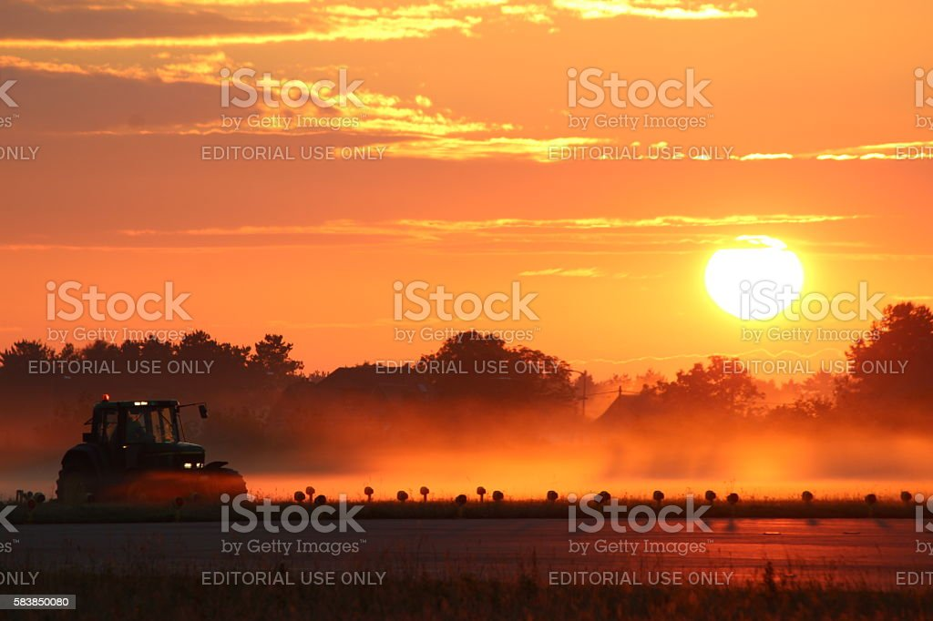 Airport Summer Sunrise stock photo