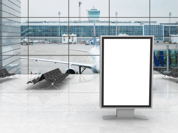 Airport terminal billboard advertisement Airport terminal billboard advertisement airport stock pictures, royalty-free photos & images