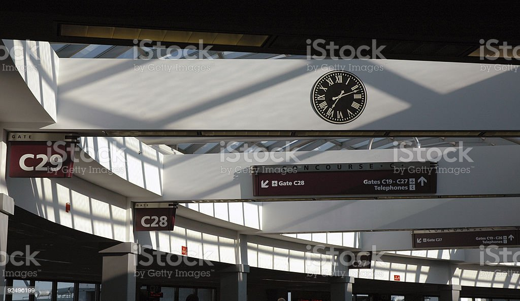 Airport terminal concourse royalty-free stock photo