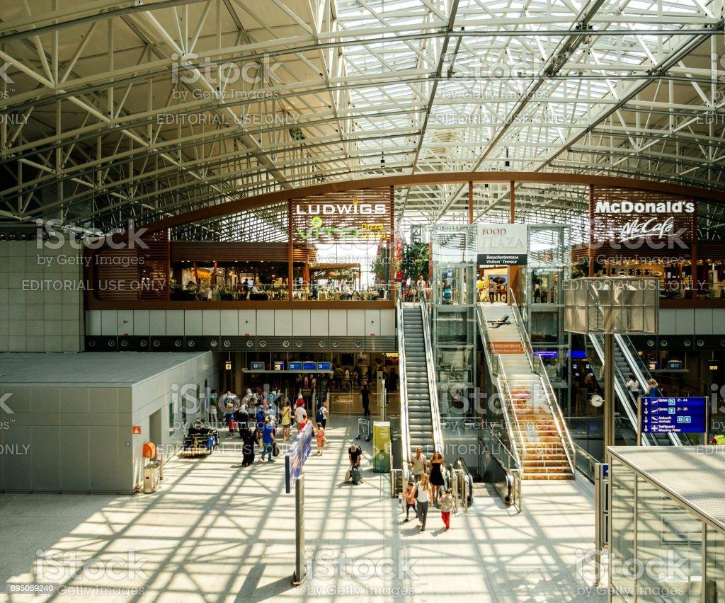 Airport terminal Frankfurt International Airport stock photo