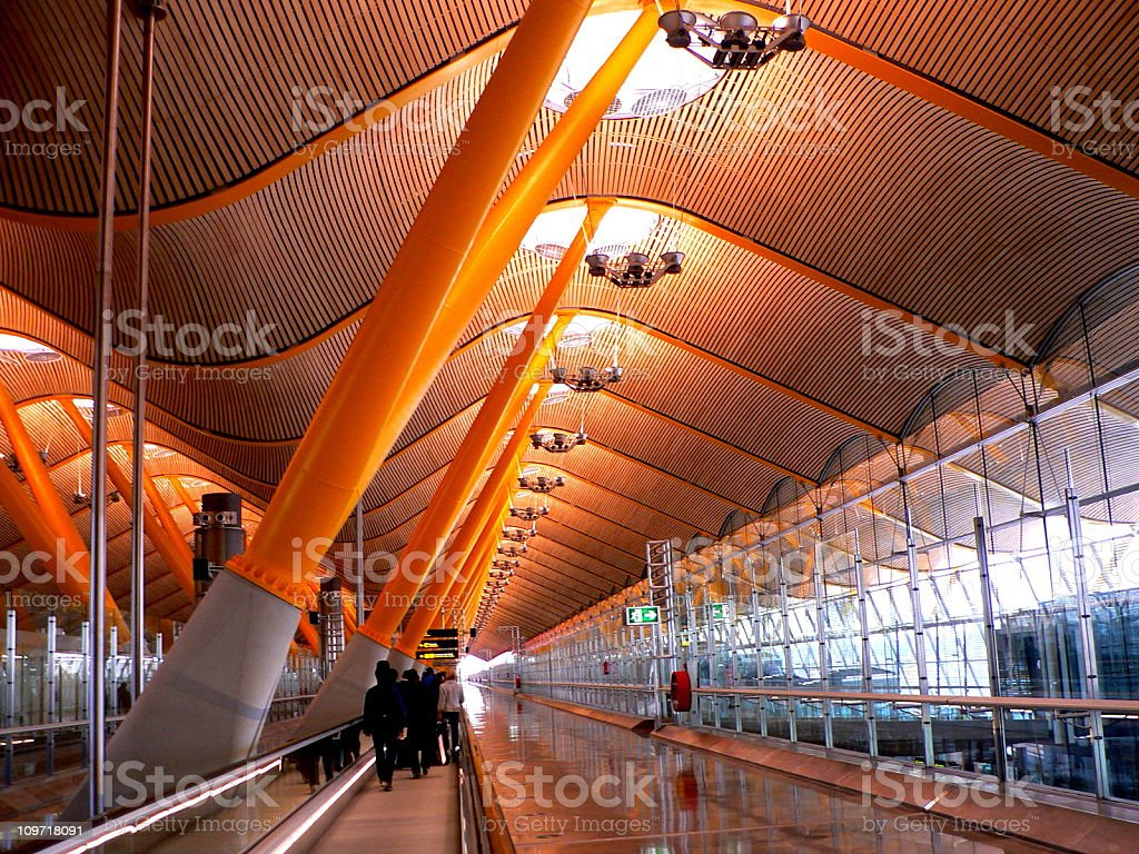 Airport terminal, T4 Madrid stock photo