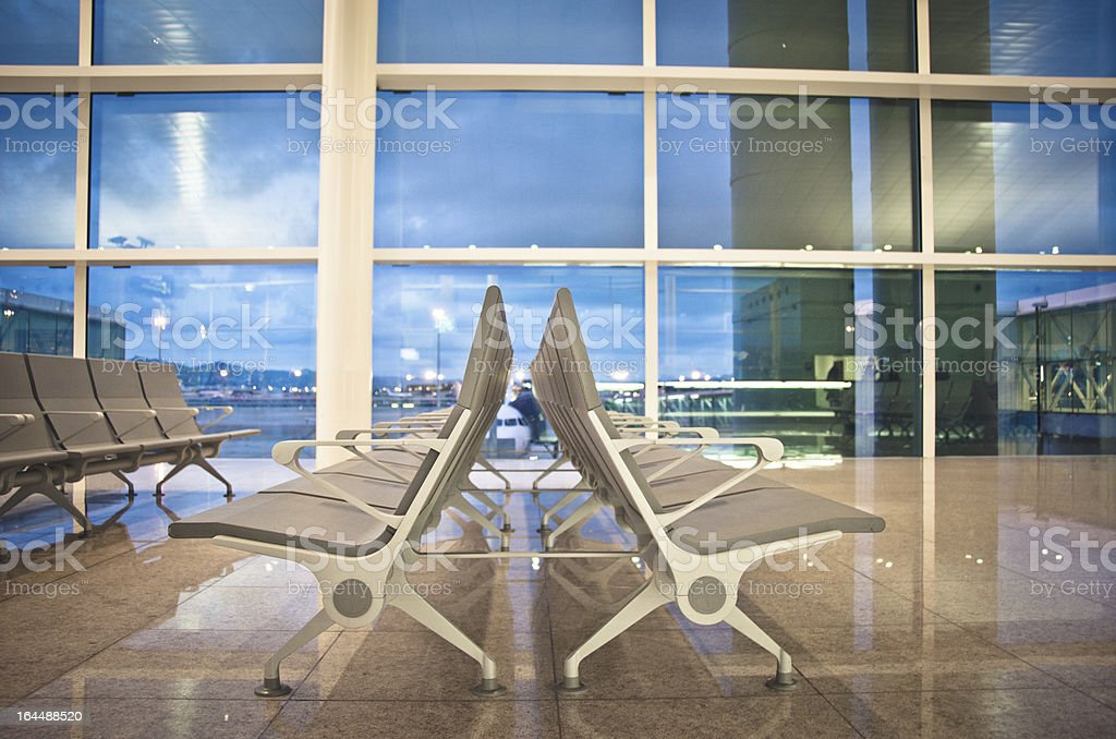 Airport Terminal Waiting Area royalty-free stock photo