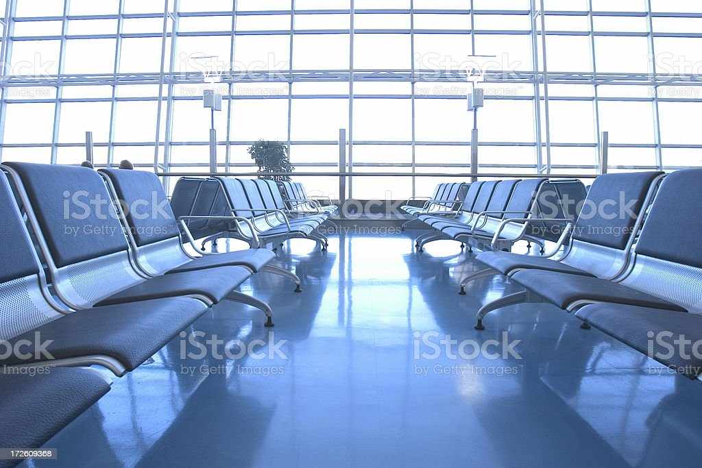 Airport Terminal Waiting Lounge royalty-free stock photo