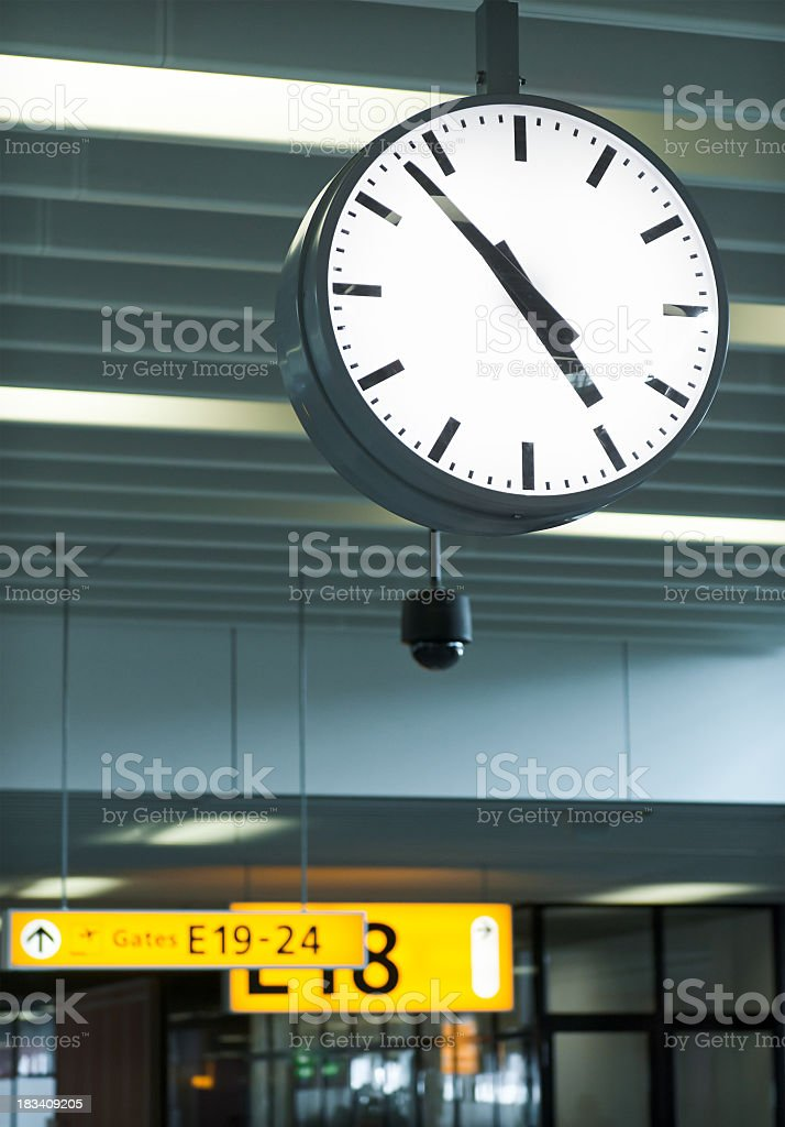 Airport Time royalty-free stock photo