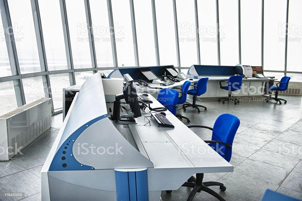 Airport Tower, Interior View stock photo