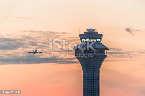 istock Airport traffic control tower 1147221668