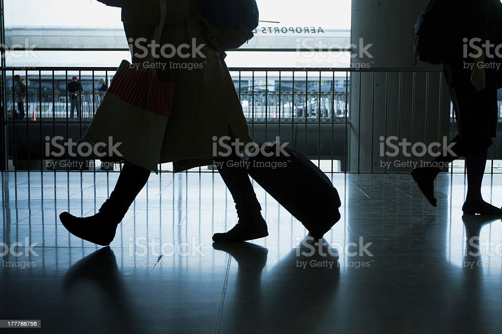 Airport Travelers royalty-free stock photo
