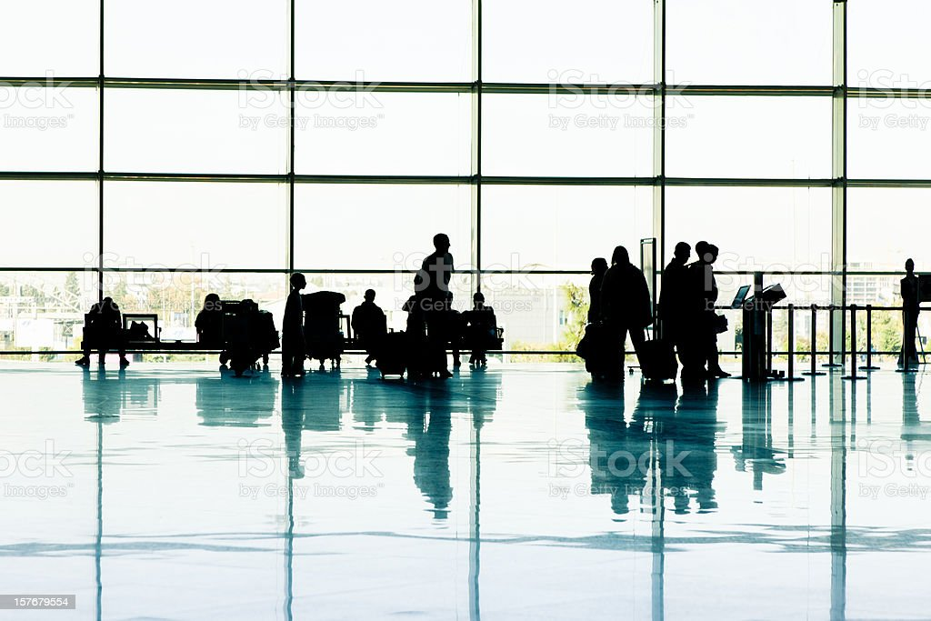 Airport Travellers royalty-free stock photo