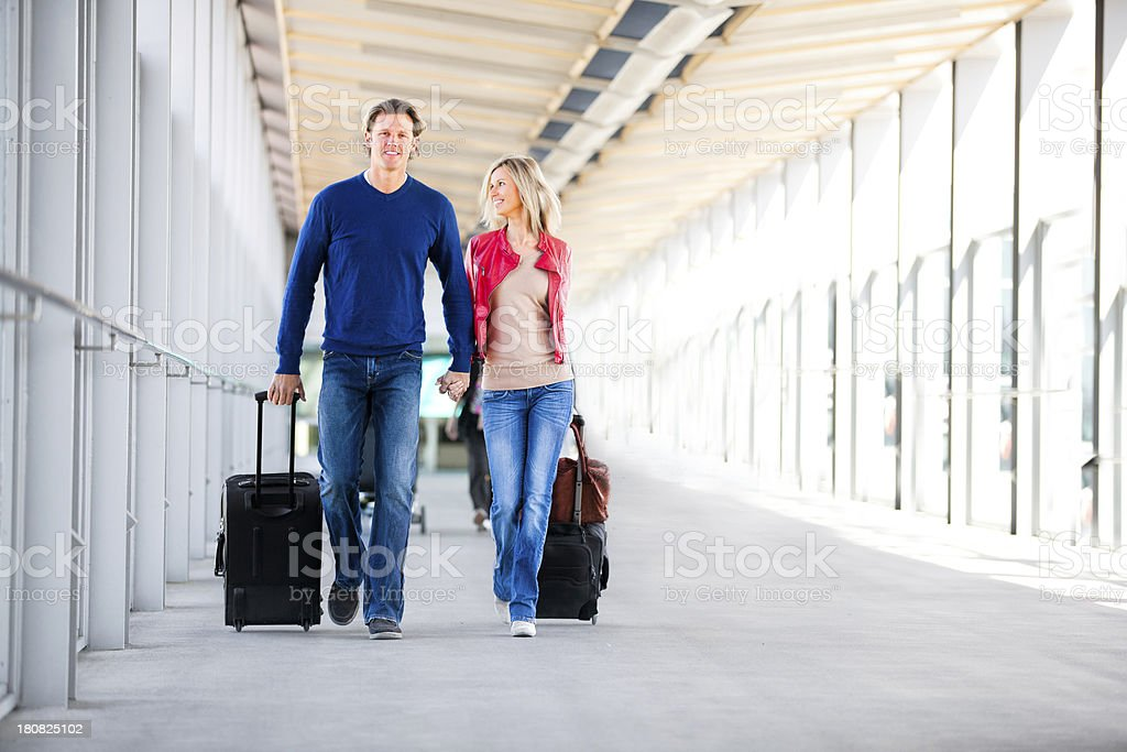 Airport travellers stock photo