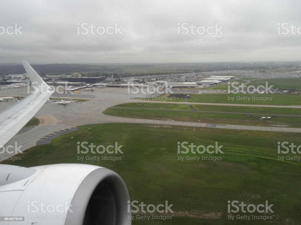 Airport view after take off royalty-free stock photo