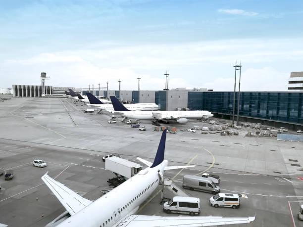 luchthaven weergave - luchthaven frankfurt am main stockfoto's en -beelden