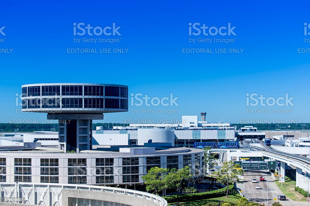IAH airport viewing tower stock photo