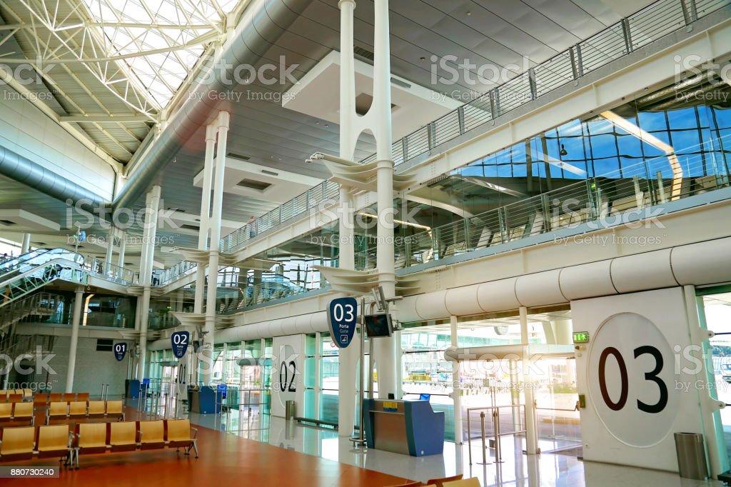 Área de espera do aeroporto - foto de acervo