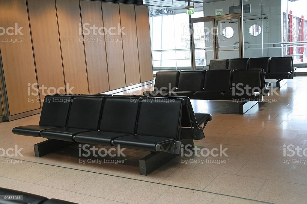 airport waiting area royalty-free stock photo