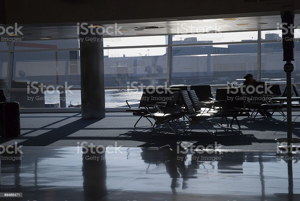 Airport waiting launge royalty-free stock photo