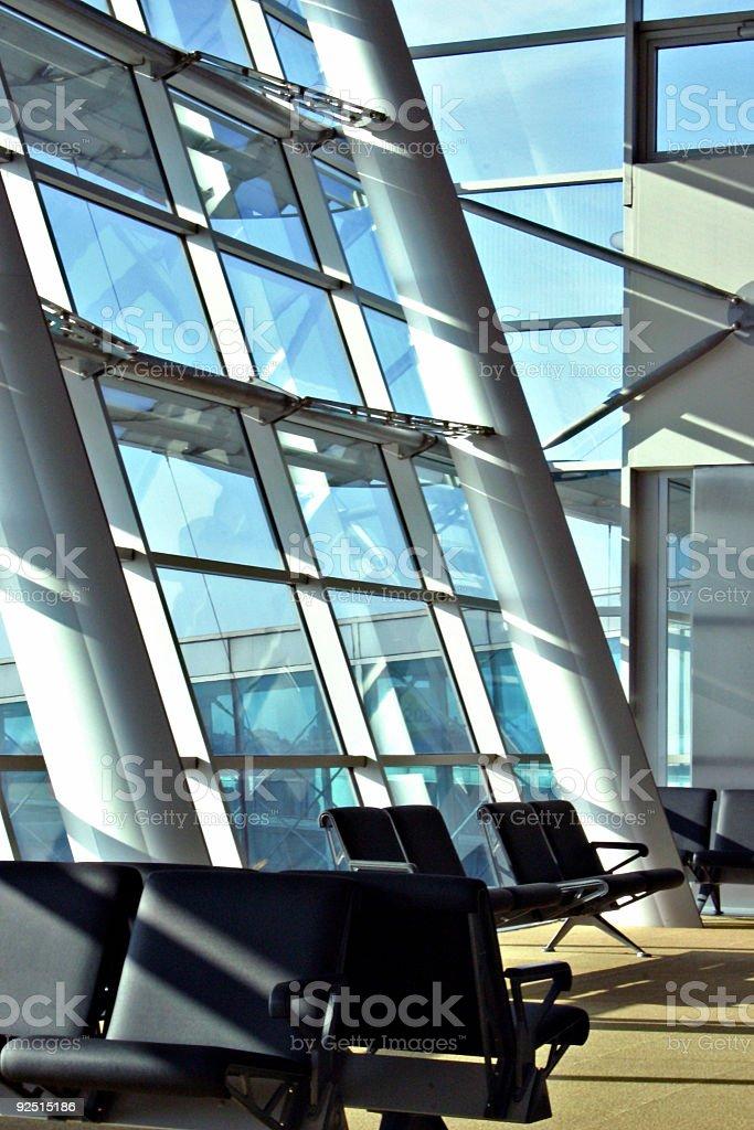 Airport  Waiting Lounge - Terminal royalty-free stock photo