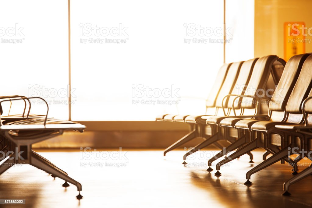 airport waiting rooms, lounges with glass windows, chairs and airplanes jfk stock photo