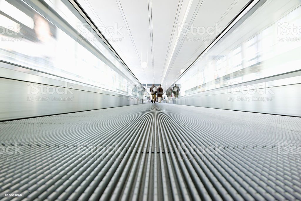 Airport Walkway Moving Stairway royalty-free stock photo