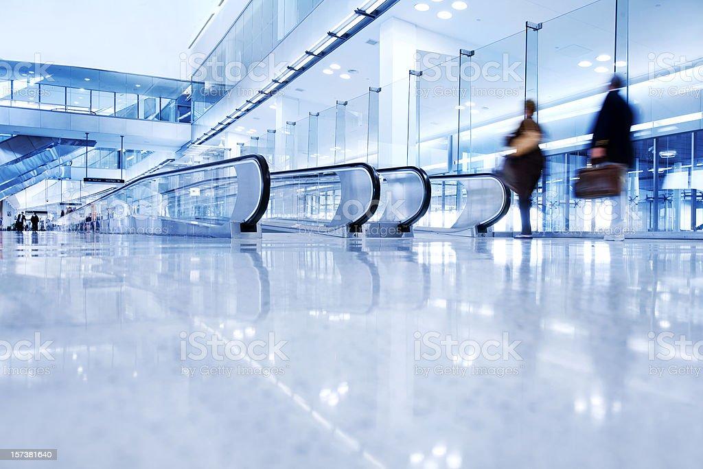 Airport Walkway royalty-free stock photo