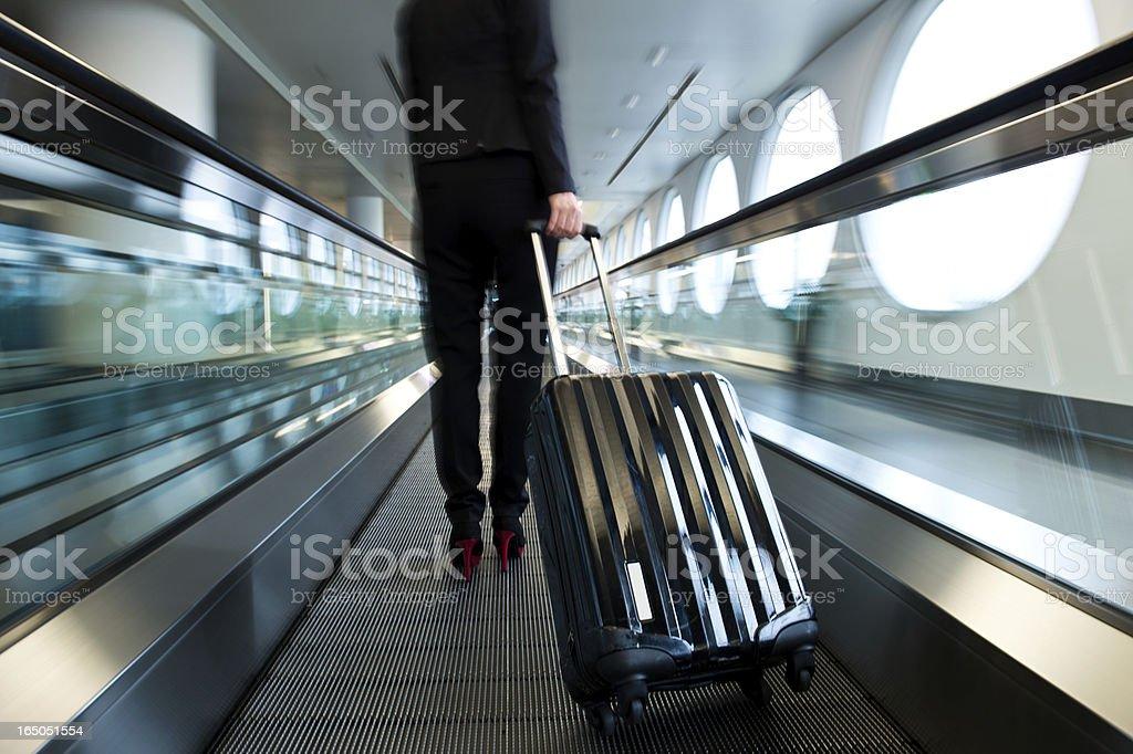 airport walkway stock photo