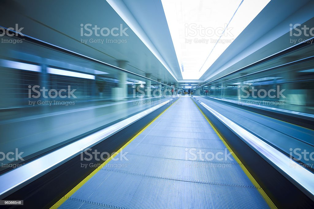 airport walkway royalty-free stock photo