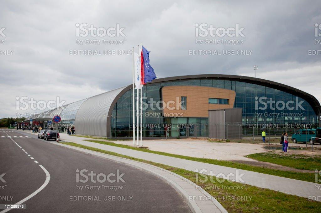 Airport Warsaw-Modlin royalty-free stock photo