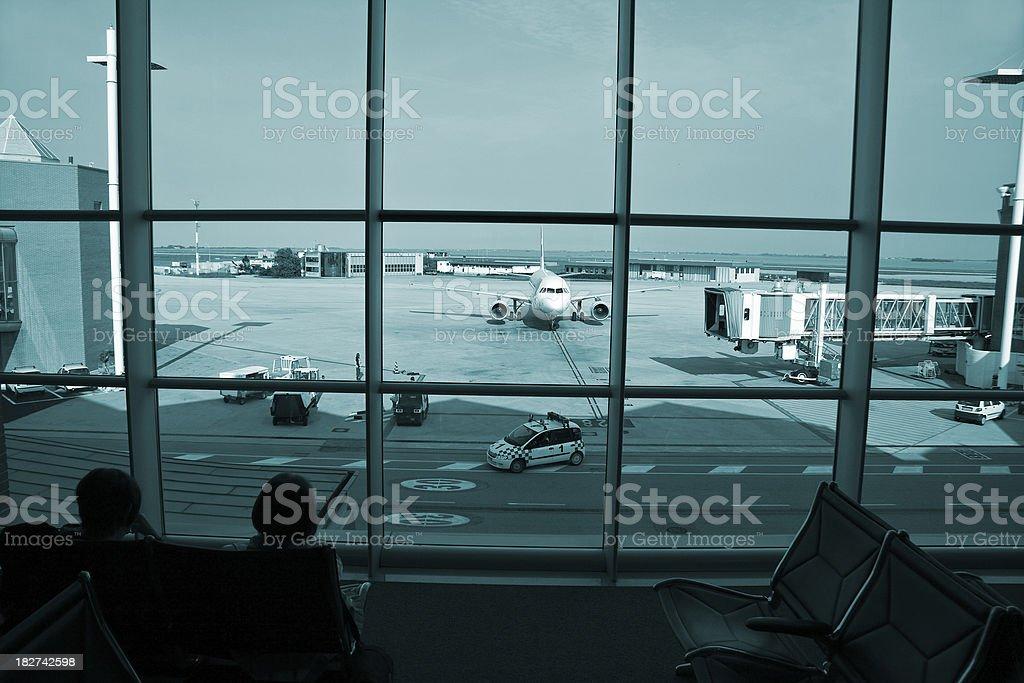 airport window royalty-free stock photo