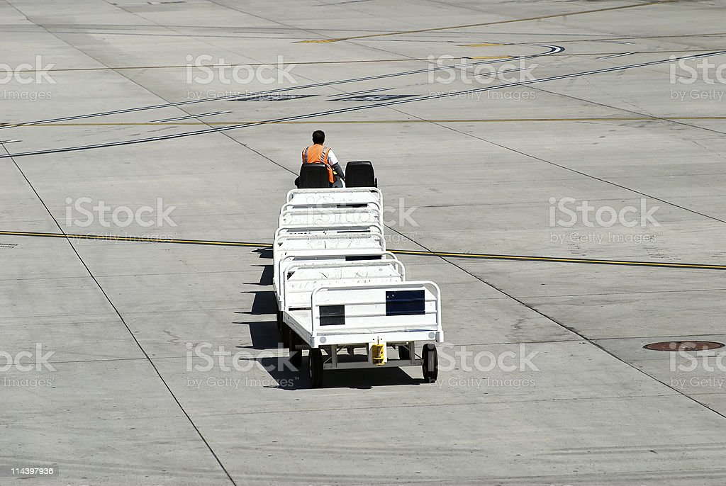 Airport worker royalty-free stock photo