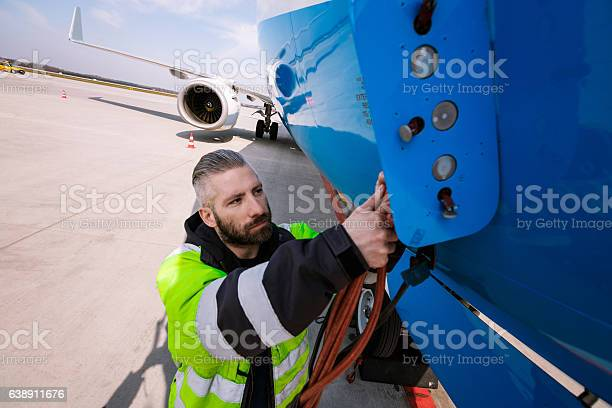 Airport Worker Stock Photo - Download Image Now