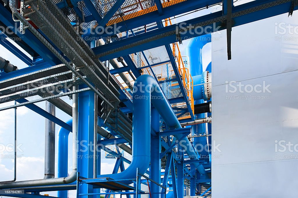 Air-separating factory stock photo