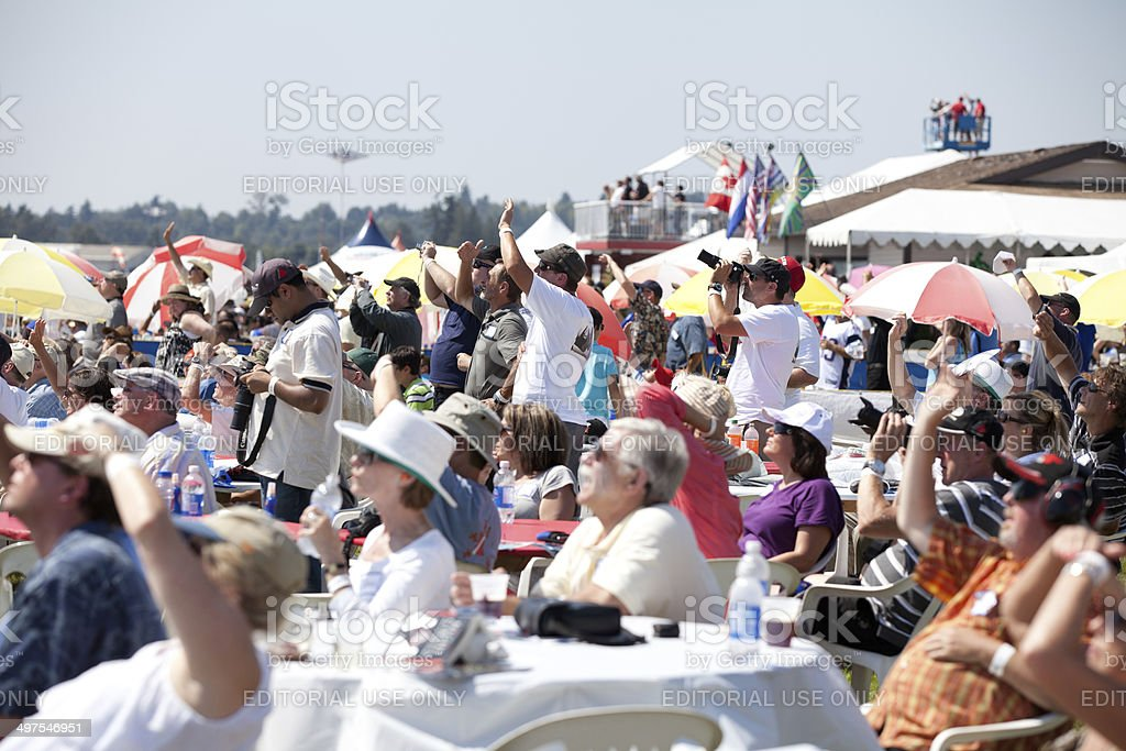Airshow Crowd stock photo