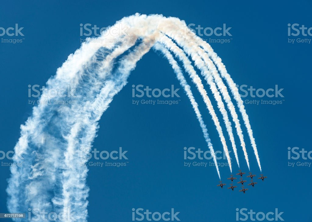 Airshow Jet Loop stock photo