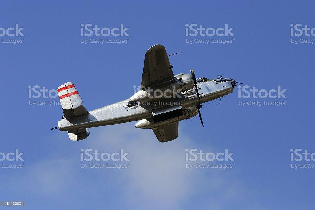 Airshow Series #11: B25 Mitchell Bomber stock photo