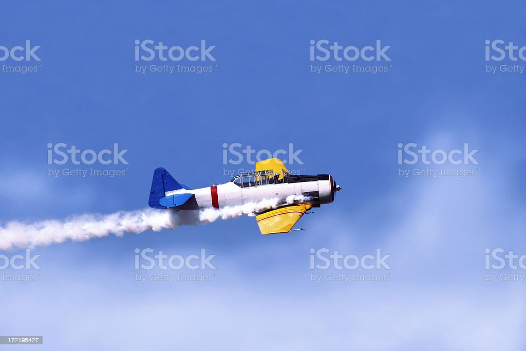 Airshow Series #5: North American T6 Trainer royalty-free stock photo