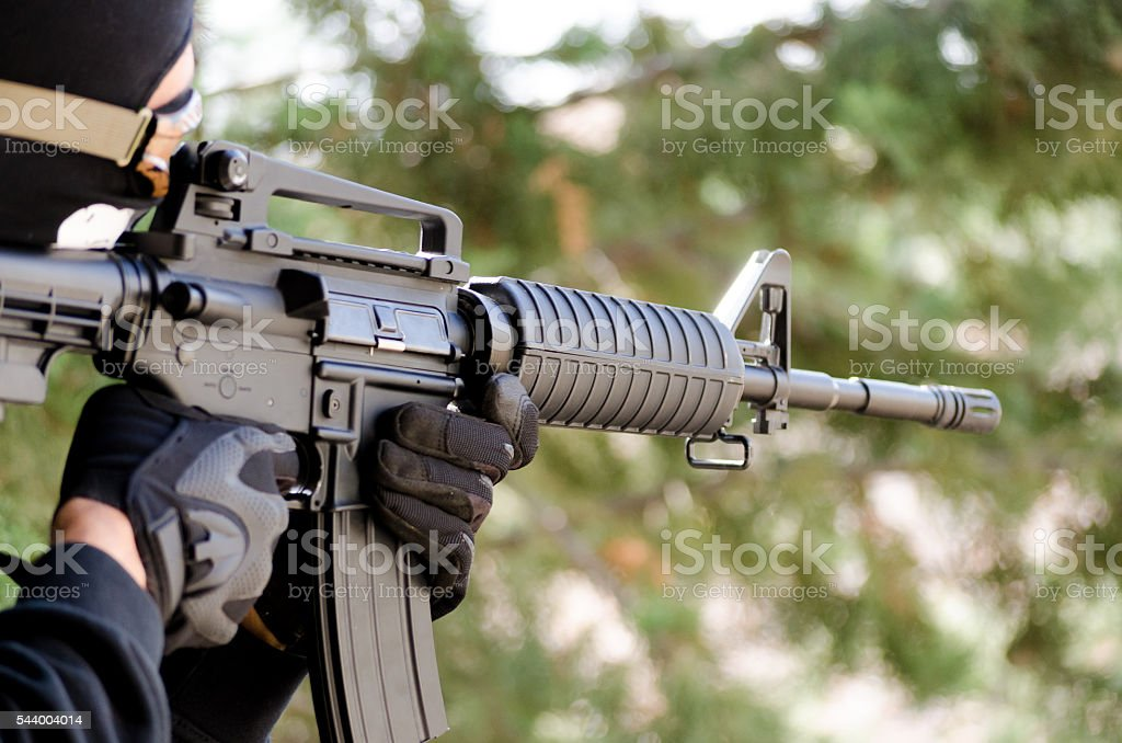 airsoft black op m 16 stock photo